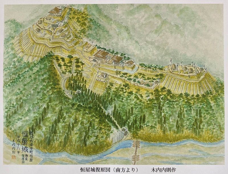 恒屋城跡の復原図