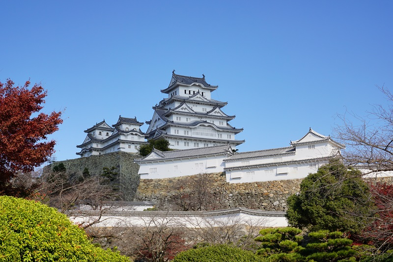 美しい姫路城の全景