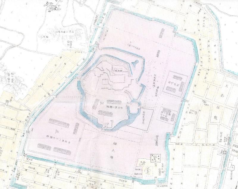 姫路・姫路城の古地図