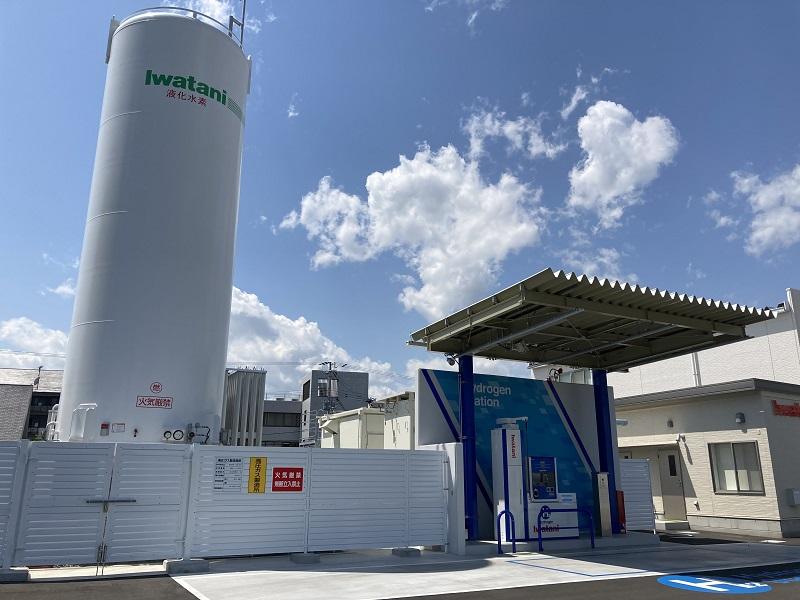 岩谷産業が開店した姫路の水素ステーション