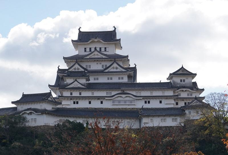 姫路城を北から見た正面