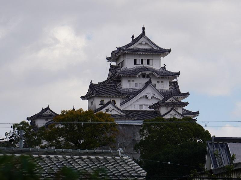 姫路城を西から見た正面