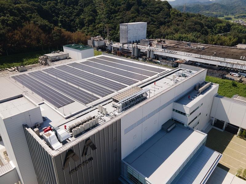 マンダム福崎工場の太陽光パネル